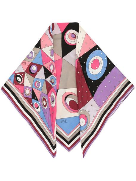 Emilio Pucci Occhi print rhinestone-embellished scarf
