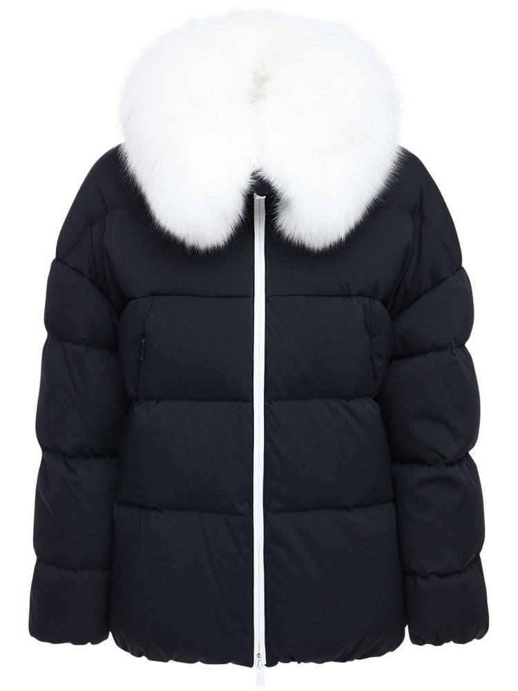 TATRAS Nashi Down Jacket W/ Fur Trim in black