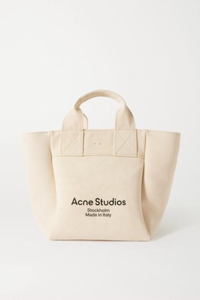Acne Studios - Printed Cotton-canvas Tote - Beige