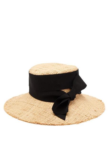 Ruslan Baginskiy - Bow Embellished Straw Hat - Womens - Beige