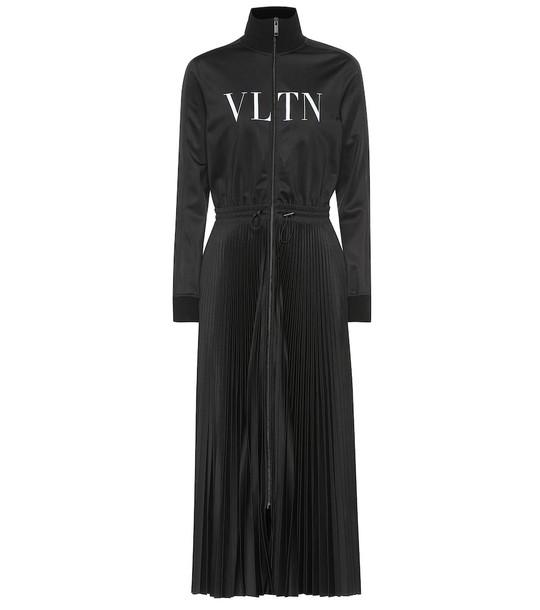 Valentino VLTN jersey maxi dress in black
