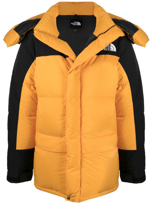 The North Face two-tone padded jacket in yellow