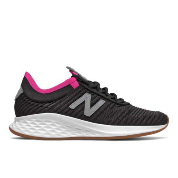 New Balance Fresh Foam Roav Fusion Women's US Site Exclusions Shoes - Black/Grey (WRVFUCB)