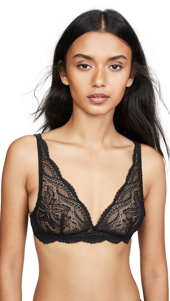 Simone Perele Eden Triangle Bralette in black