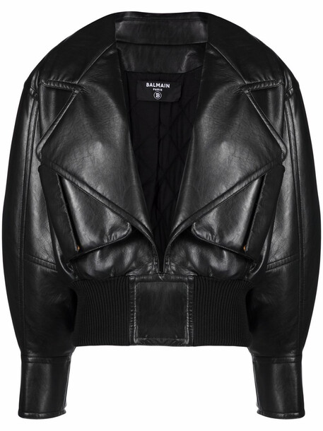 Balmain open front bomber jacket - Black