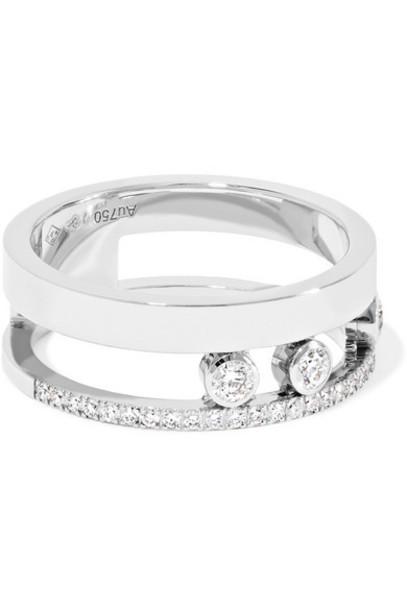 Messika - Move Romane 18-karat White Gold Diamond Ring