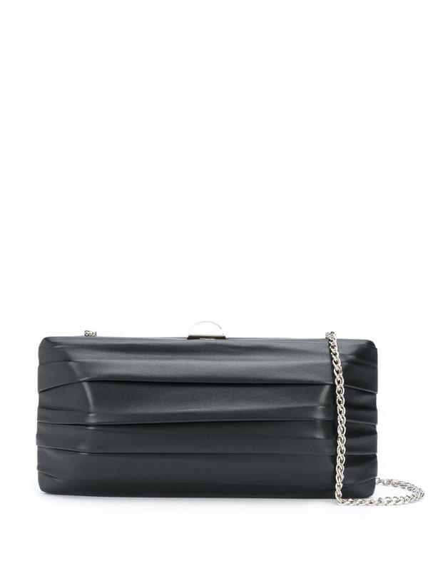Rodo pleated detail clutch bag in black