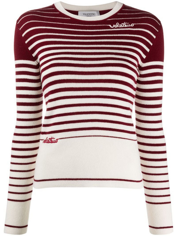 Valentino degradé stripes jumper in red