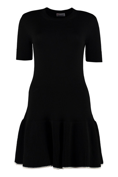 RED Valentino Knitted Dress in black