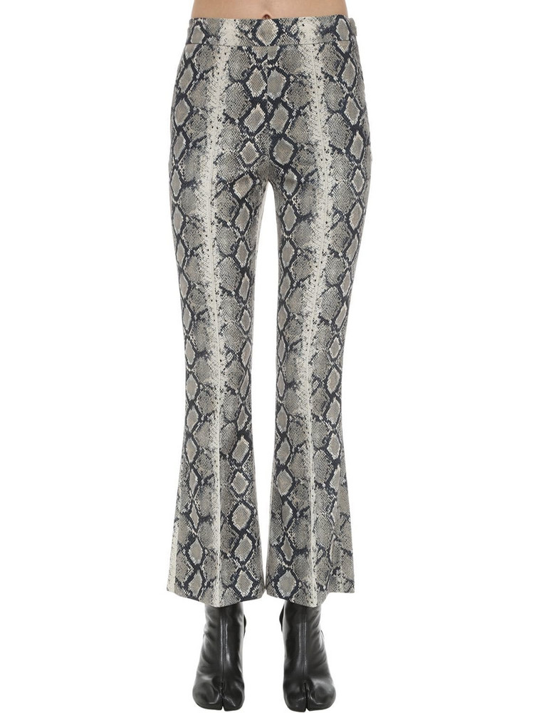 WE11 DONE Snakeskin Printed Stretch Pants