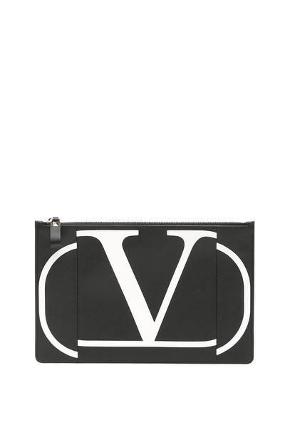 Valentino Go Logo Pouch in black / bianco