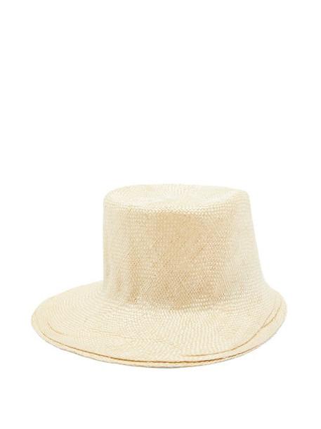 Reinhard Plank Hats - Strega Straw Bucket Hat - Womens - Cream