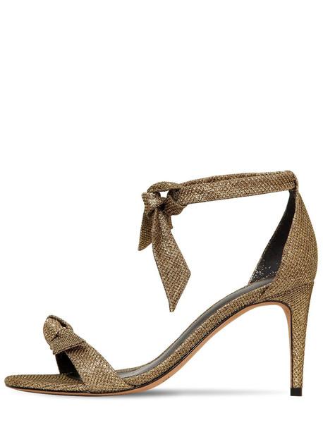 ALEXANDRE BIRMAN 75mm Clarita Cotton Blend Lurex Sandals in gold