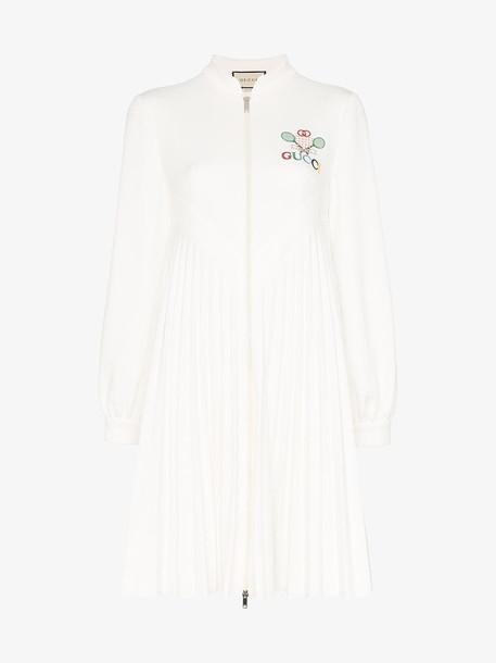Gucci pleated tennis mini dress in white