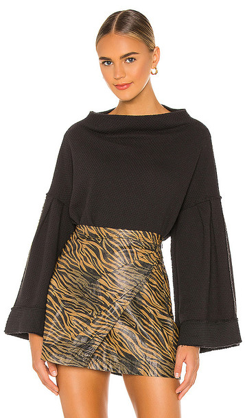 Free People Bunny Tee Pullover in Black