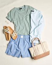 sweater,top,shoes,shorts,bag