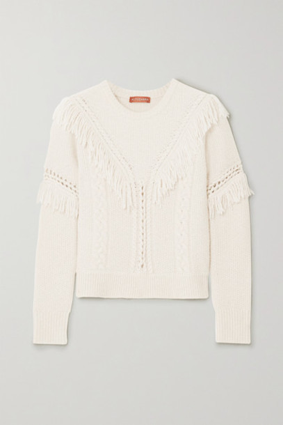 Altuzarra - Buckeye Fringed Knitted Sweater - Ivory