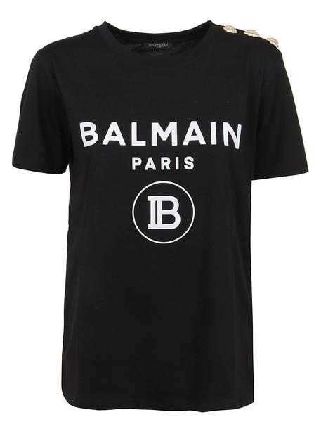 Balmain Ss 3 Btn Coin T-shirt in noir