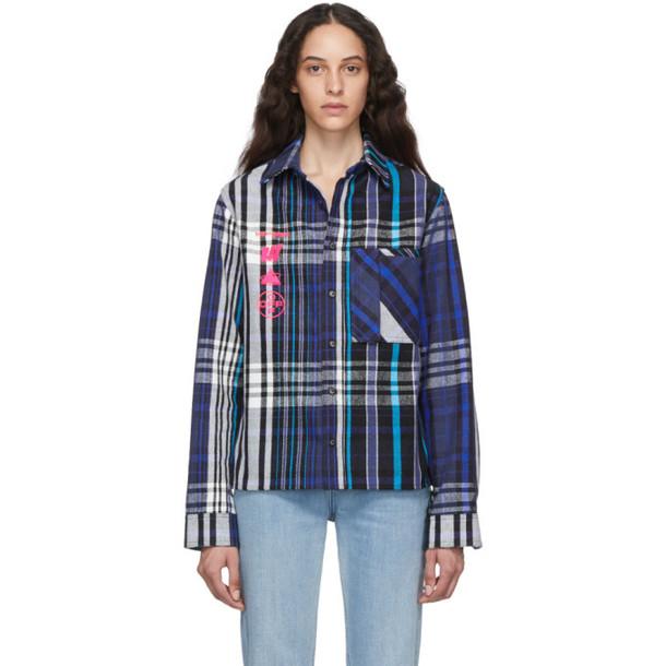 Off-White Blue Check Mariana De Silva Shirt