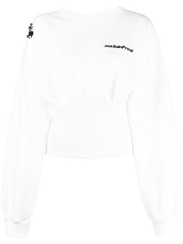 Styland slogan print sweatshirt in white