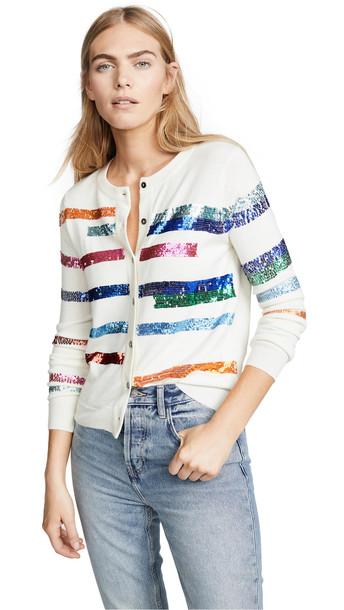 Prabal Gurung Rainbow Stripe Cashmere Cardigan in multi