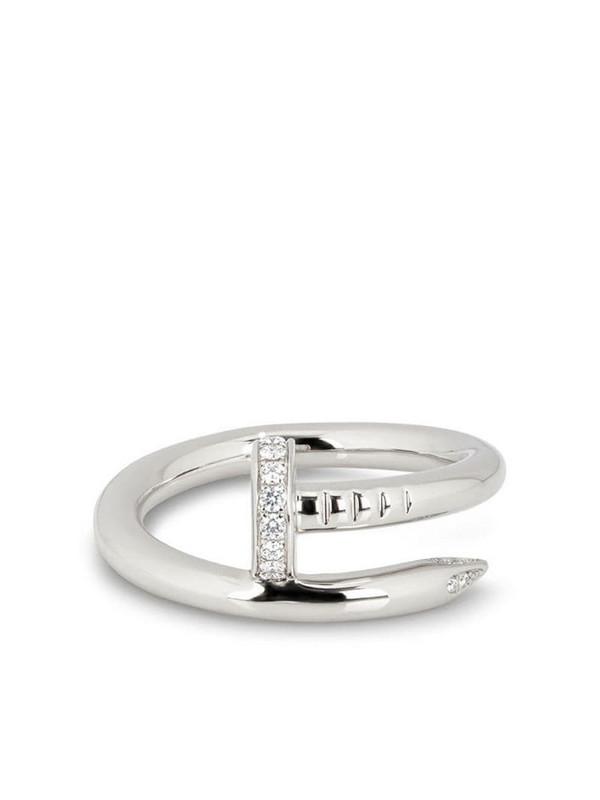 Cartier 18kt white gold diamond Juste Un Clou ring in silver