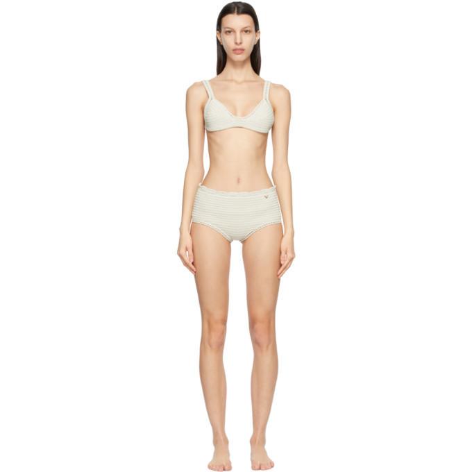 Valentino Off-White Cotton Crochet Bikini in ivory
