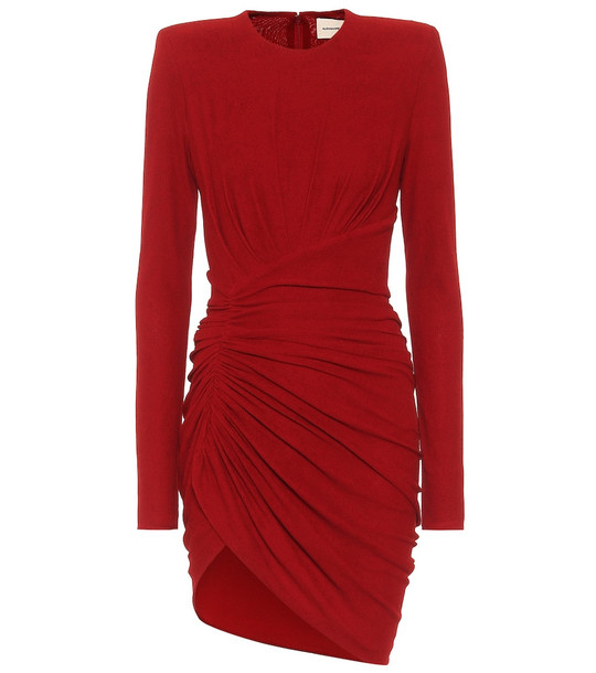 Alexandre Vauthier Ruched stretch-jersey minidress in red