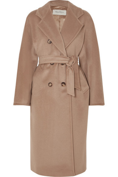 Max Mara - 101801 Icon Double-breasted Wool And Cashmere-blend Coat - Camel