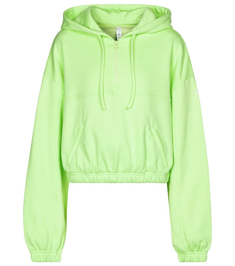 Alo Yoga Stadium cotton-blend hoodie in green