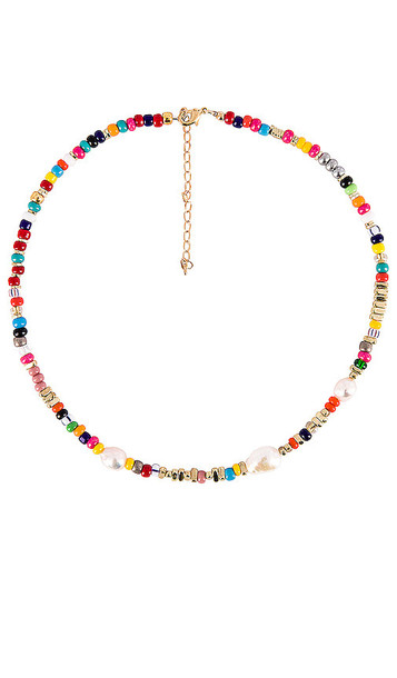 joolz by Martha Calvo Ocean Drive Necklace in Metallic Gold