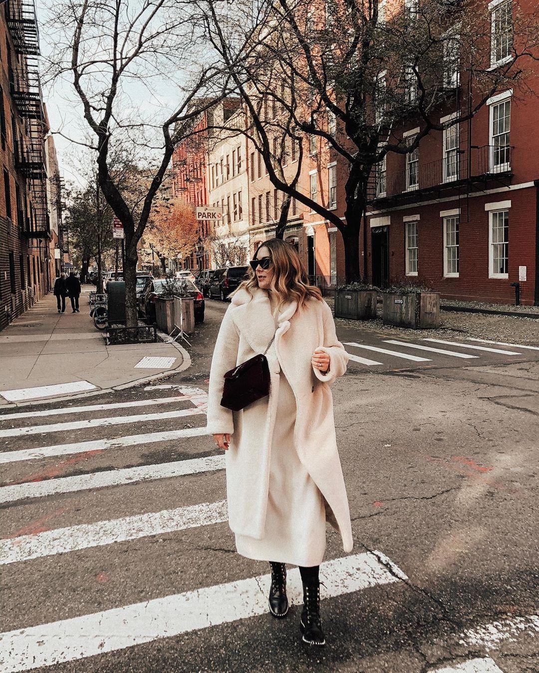 dress white dress midi dress zara teddy bear coat white coat black boots tights ysl bag black bag