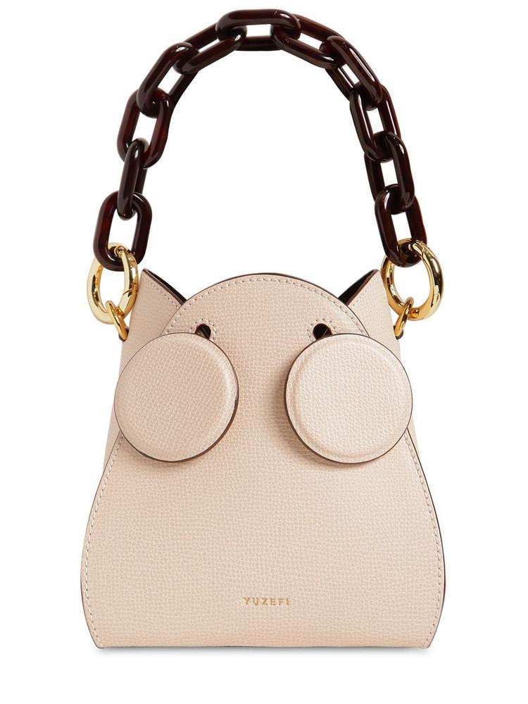 YUZEFI Pepper Leather Bucket Bag in blush