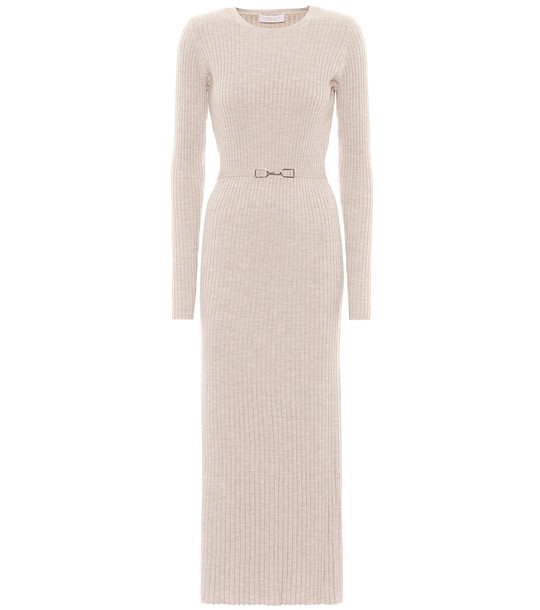 Gabriela Hearst Exclusive to Mytheresa – Luisa wool and cashmere dress in beige