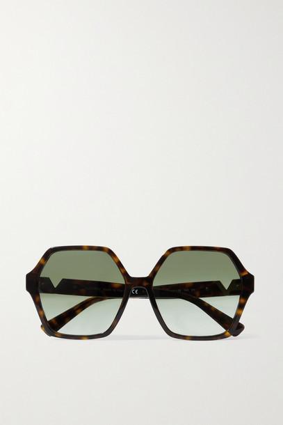 VALENTINO - Valentino Garavani Hexagon-frame Tortoiseshell Acetate Sunglasses - one size