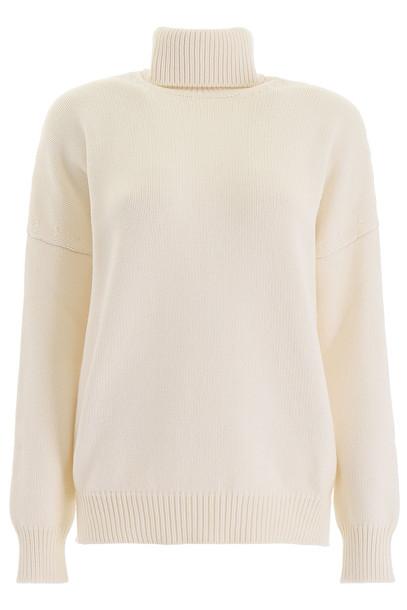 Loewe Cashmere Pullover in ecru / white