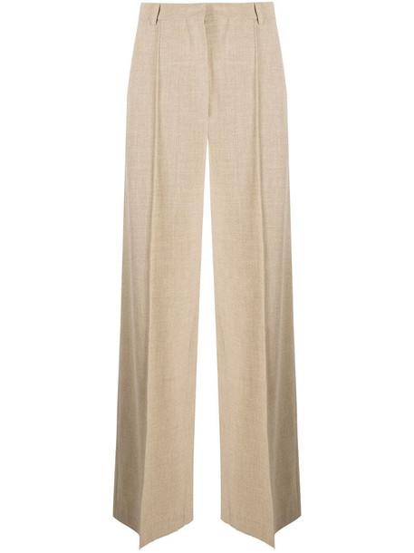 Nanushka wide-leg cotton trousers in neutrals