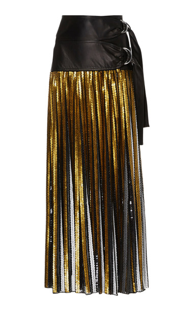 Proenza Schouler Sequin Skirt in gold