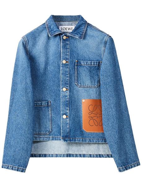 LOEWE Logo Organic Cotton Denim Short Jacket