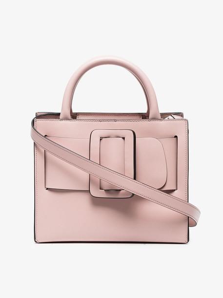 Boyy Pink Bobby 23 Leather Tote Bag