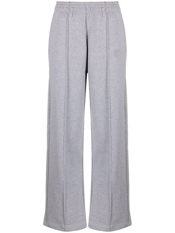 Daily Paper embroidered logo track pants in grey