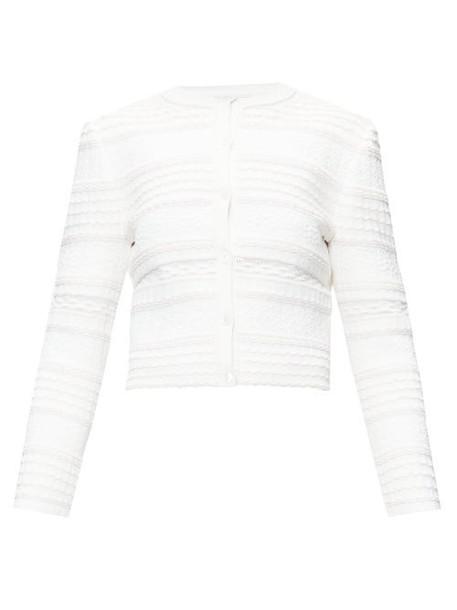 Alexander Mcqueen - Textured Knit Cardigan - Womens - Ivory