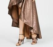shoes,metallic brown ankle strap heels