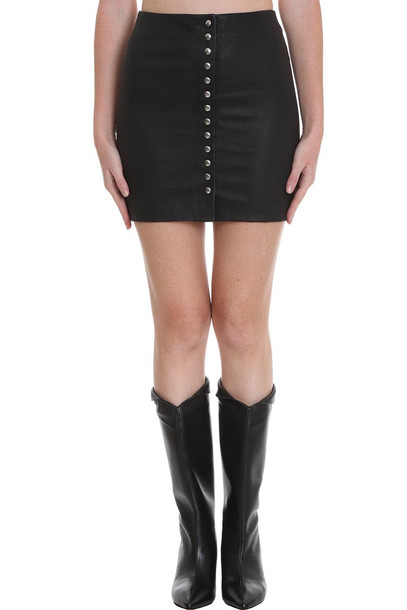 IRO Costa Skirt In Black Leather