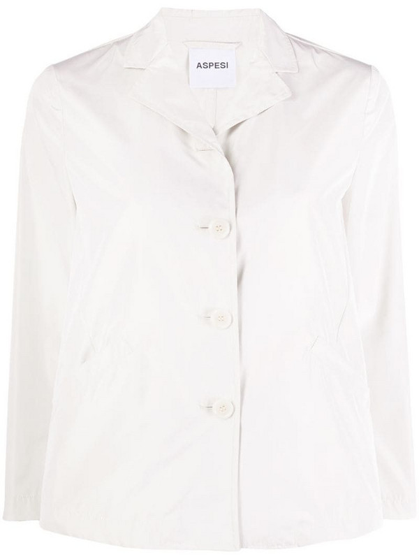 Aspesi single-breasted cropped jacket in neutrals