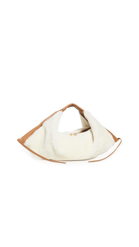 3.1 Phillip Lim Luna Mini Shearling Slouchy Hobo Bag in natural