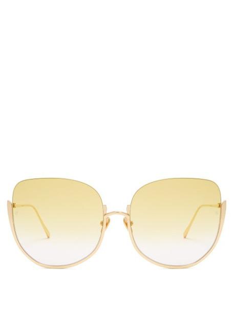 oversized sunglasses yellow