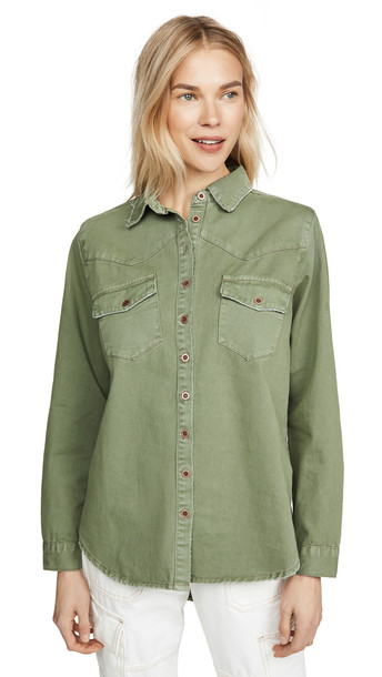 One Teaspoon New Vintage Shirt in khaki
