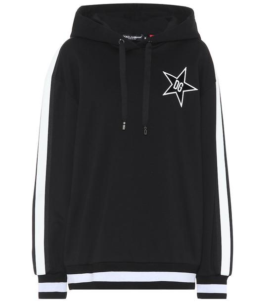 Dolce & Gabbana Millennials Star cotton hoodie in black