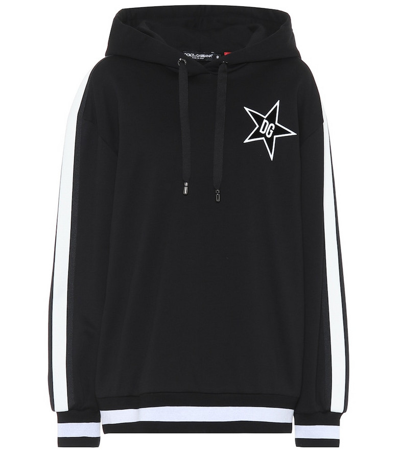 Dolce & Gabbana Millennials Star cotton hoodie in black